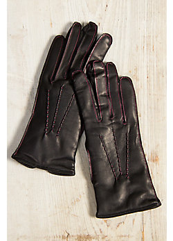 Women's Lambton Cashmere-Lined Leather Gloves