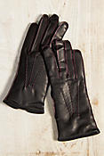 Women's Dents Lambton Cashmere-Lined Leather Gloves