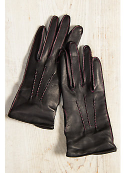 Women's Hengrave Silk-Lined Lambskin Leather Gloves