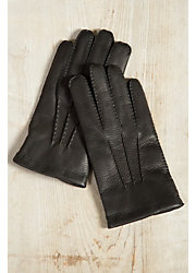 Men's Dents Canterbury Cashmere-Lined Deerskin Leather Gloves