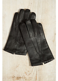 Men's Dents Shaftesbury Touch Classic Cashmere-Lined Leather Gloves