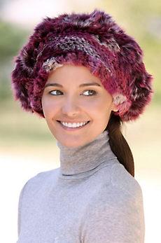 Women's Knitted Rex Rabbit Fur Beret II