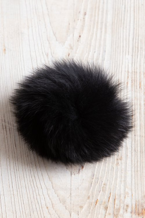 Fox Fur Pom Pin