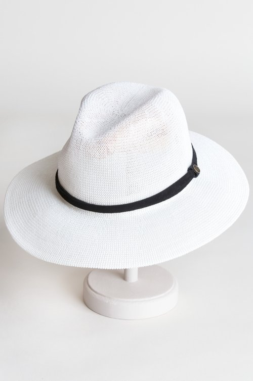 1aa7f7c87bd8bc Fatima Packable Straw-Blend Fedora Hat