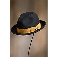 1950's Mens Hats Goorin Bros. Mr. Driver Wool Felt Fedora Hat BLACK Size XLARGE 7 58 $75.00 AT vintagedancer.com