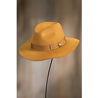 Men's Vintage Style Hats Goorin Bros. Beauregard Wool Felt Fedora Hat MUSTARD Size SMALL 6 78 $85.00 AT vintagedancer.com