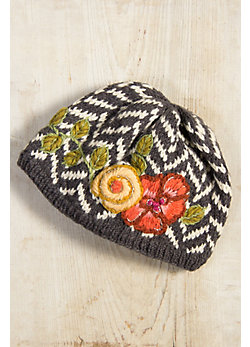 Women's Handmade Thea Wool Beanie Hat with Fleece Lining