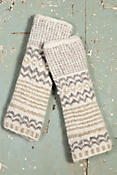 Women's Nepalese Stripes Handmade Wool-Blend Fingerless Gloves