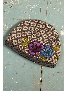 Women's Athena Fleece-Lined Handmade Nepalese Wool Beanie Hat