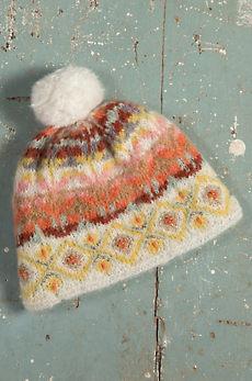 Women's Cozy Fleece-Lined Handmade Wool & Mohair Blend Beanie Hat