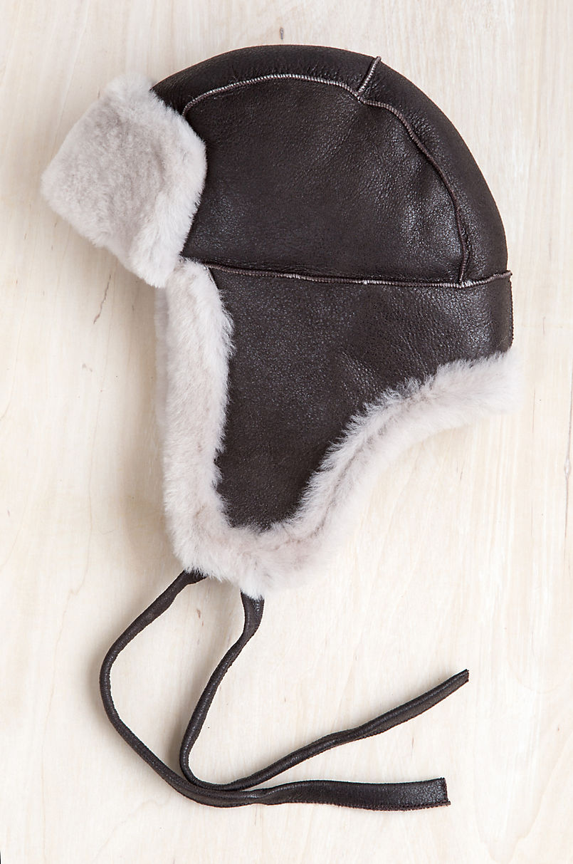 5ed89f8899 B-3 Sheepskin Aviator Hat