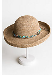 Gilchrist Crocheted Shapeable Raffia Kettle Brim Hat