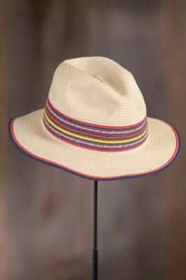 Coney Island Straw Fedora Hat