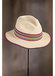 Coney Island Straw Fedora Hat