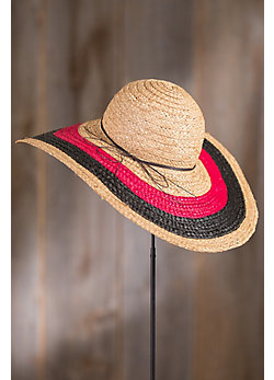 Sunset Big Brim Beach Raffia Hat