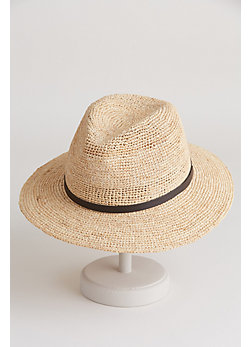 Crocheted Raffia Safari Hat