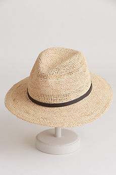 Crocheted Raffia Safari Hat