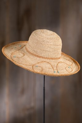 Crocheted Raffia Big Brim Hat