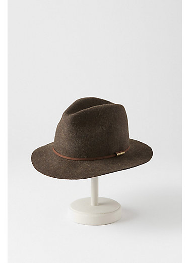 Edward Crushable Wool Felt Safari Hat