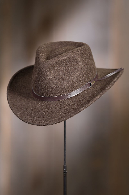 cb1337d41d1 Brisbane Crushable Wool Felt Outback Hat
