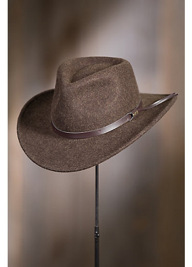 Brisbane Crushable Wool Felt Outback Hat