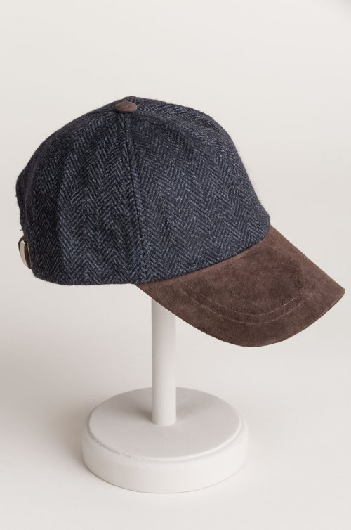 Overland York Wool and Suede Baseball Cap