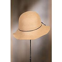 1930s Style Hats – New Vintage Inspired Designs Nightingale Wool Felt Floppy Cloche Hat CAMEL Size 1 Size $45.00 AT vintagedancer.com