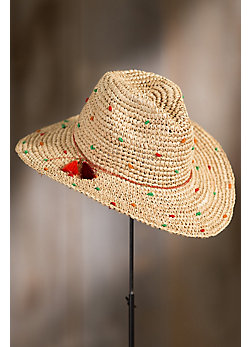 Dubrovnik Crocheted Raffia Safari Hat