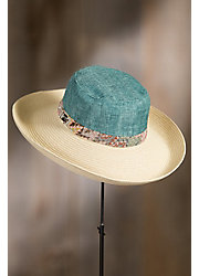 Linen Shapeable Straw Kettle Brim Hat