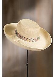 Linen Shapeable Straw Kettle Brim Hat