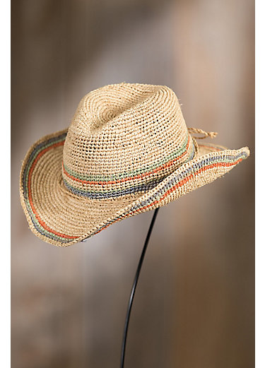 Crocheted Raffia Cowboy Hat