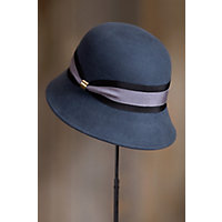 1940s Hats History Womens Classic Wool Felt Cloche Hat SLATE Size One size 6 $49.00 AT vintagedancer.com