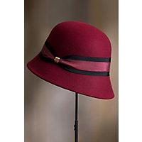 1920s Style Hats Womens Classic Wool Felt Cloche Hat $49.00 AT vintagedancer.com