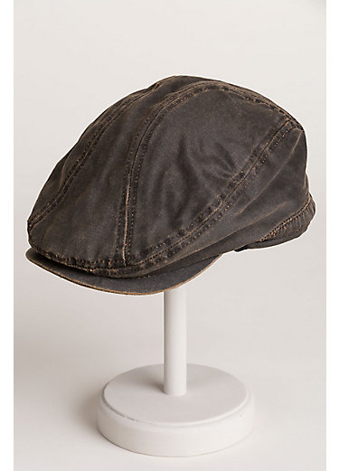 Weathered Cotton-Blend Ivy Cap with Fleece-Lined Earflap