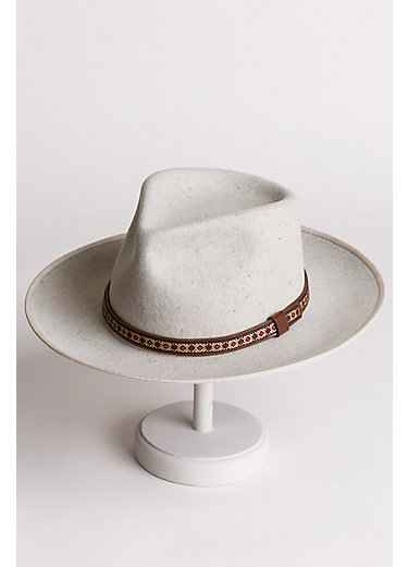 Alpes Wide Brim Wool Felt Fedora Hat