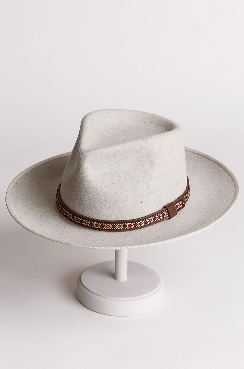 Overland Alpes Wide Brim Wool Felt Fedora Hat