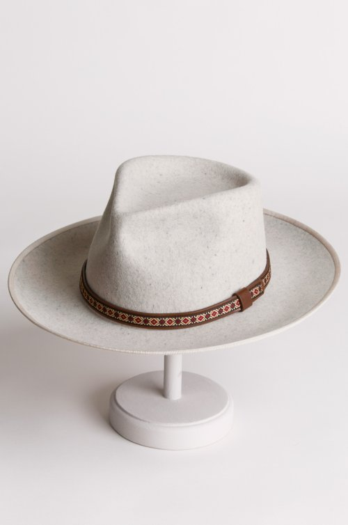 Overland Alpes Wide Brim Wool Felt Fedora Hat