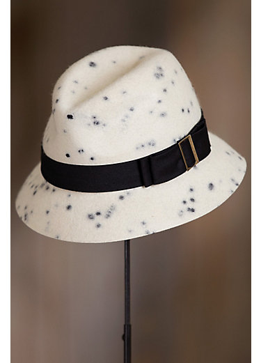 La Rochelle Wool Felt Fedora Cloche Hat