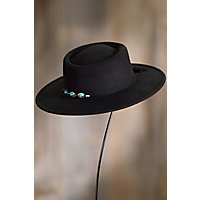 Steampunk Hats | Top Hats | Bowler Felt Gambler Hat with Concho Band BLACK Size 1 Size Approx. 22quot circumference $35.00 AT vintagedancer.com