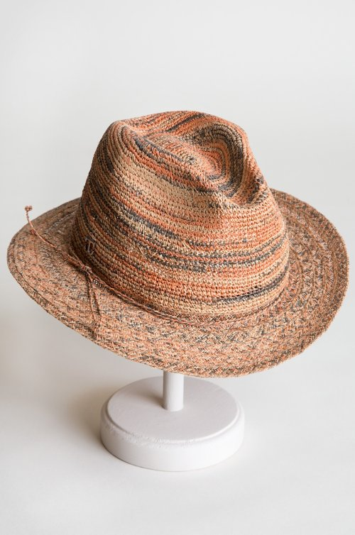 Packable Fine Crocheted Raffia Safari Hat