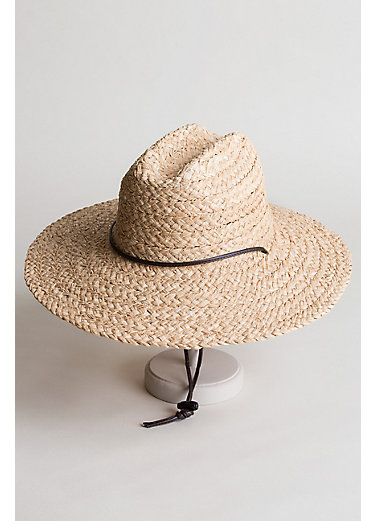 Lifeguard Raffia Floppy Sun Hat