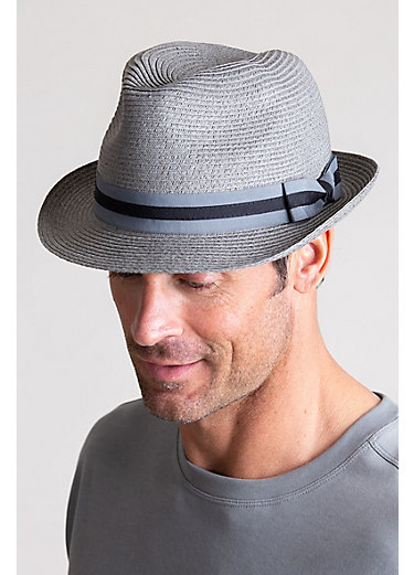 Bedford Crushable Toyo Straw-Blend Fedora Hat