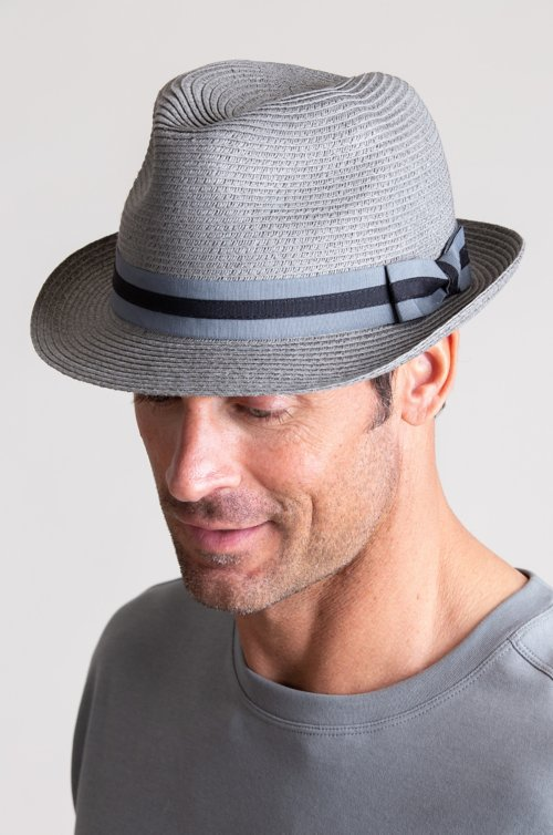 Overland Bedford Crushable Toyo Straw-Blend Fedora Hat
