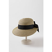 Edwardian Hats, Titanic Hats, Tea Party Hats Sarasota Packable Paper Braid-Blend Straw Sun Hat with Grosgrain Hatband and Bow $39.00 AT vintagedancer.com
