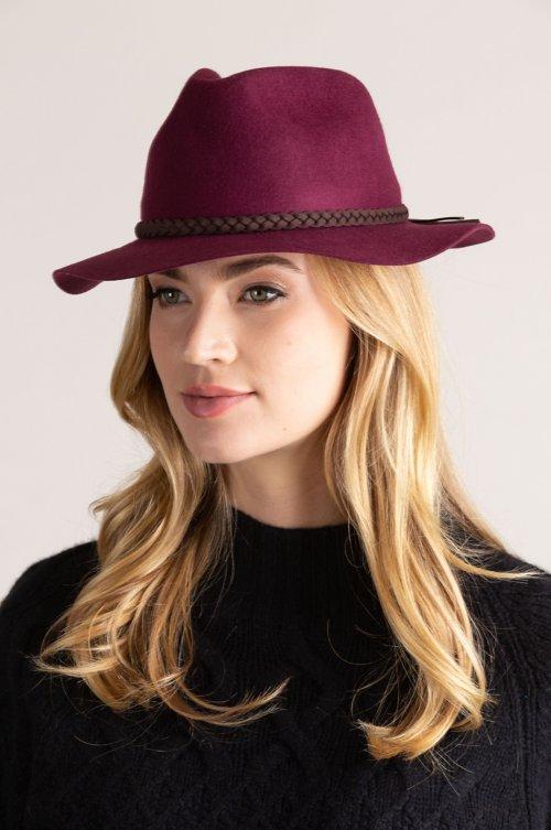 Charlotte Wool Felt Floppy Fedora Hat