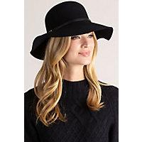 Women's Vintage Hats | Old Fashioned Hats | Retro Hats Debra Wool Felt Floppy Bowler Hat $45.00 AT vintagedancer.com