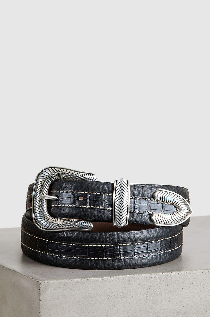 Overland Coloma Bison Leather Belt