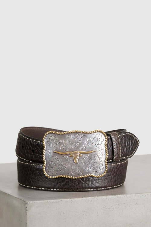 Overland Maverick Bison Leather Belt