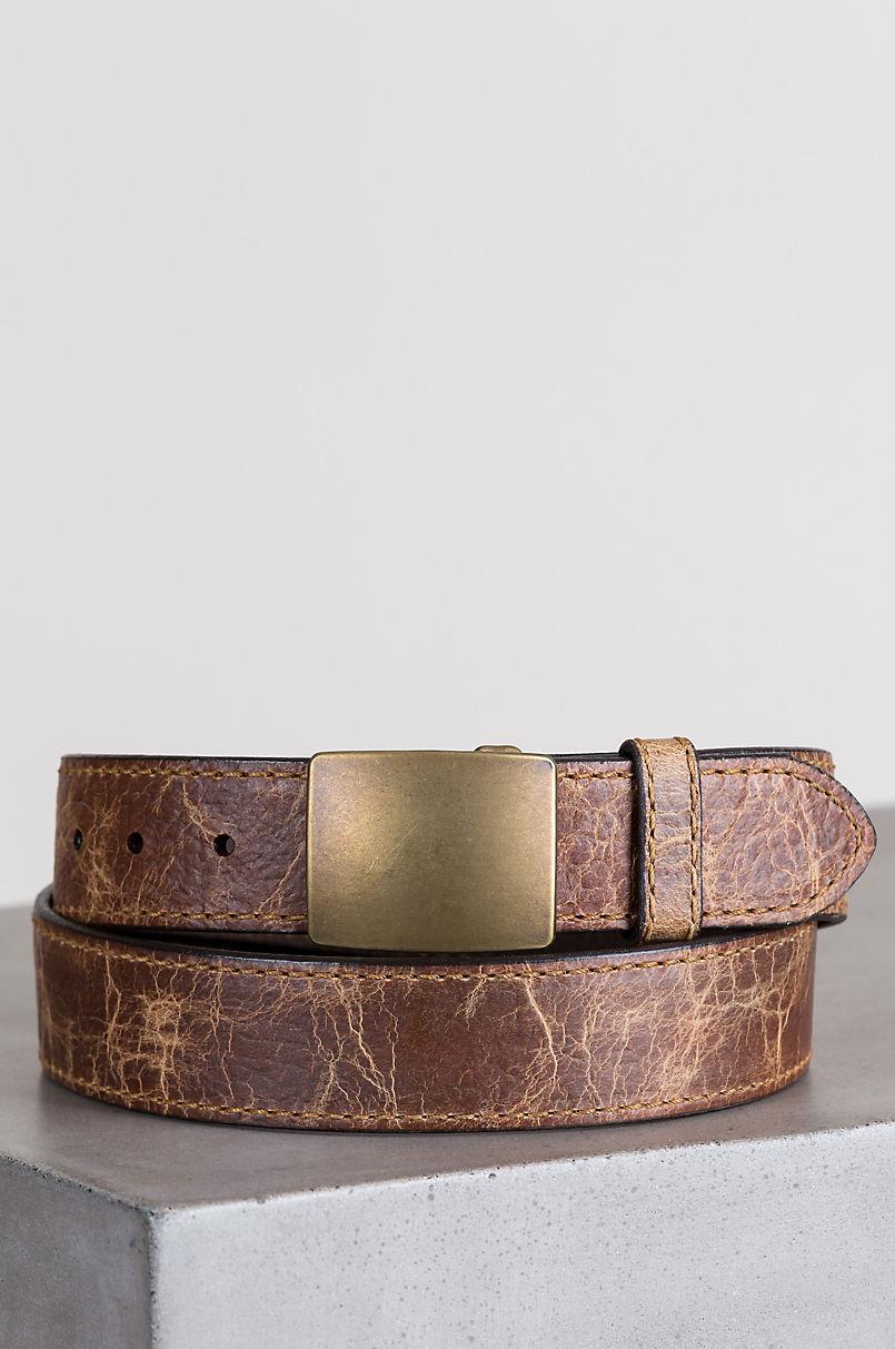 Overland Desota Bison Leather Belt