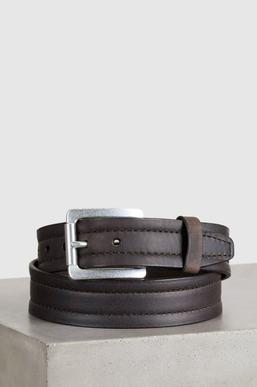 fc8efb6e4 Overland Parker Bison Leather Belt